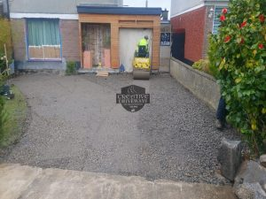 Birch Barleystone Paved Driveway in Limerick City