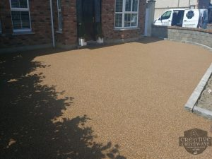 Golden Brown Resin Bound Driveway in Limerick City