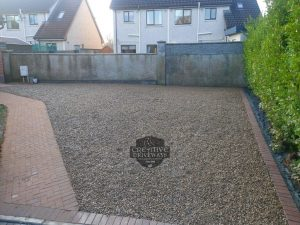 Gravel Driveway with Repurposed Paving Blocks in Limerick City