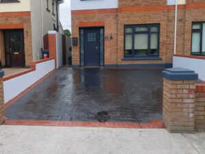 New Tint and Seal on an Imprint Concrete Driveway in Maynooth, Co. Kildare