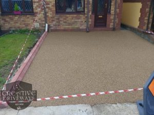 Resin Bound Driveway with Brindle Keykerbs in Limerick City
