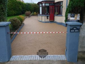 Resin Bound Driveway with Granite Brick Apron in Limerick City