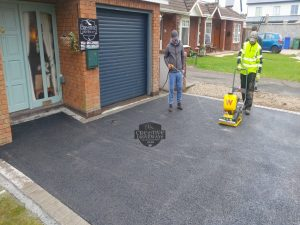 SMA Tarmac Driveway with Birch Border in Corbally, Limerick