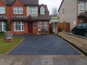 SMA Tarmac Driveway with Mulberry Border in Corbally, Limerick