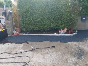Tar and Chip Driveway with New Kerbing and Step in Bray, Co. Wicklow