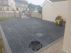 Tarmac Driveway with Barleystone Border in Limerick