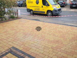 Tegula Paved Driveway with Charcoal Border in Rathcoole, Co. Dublin
