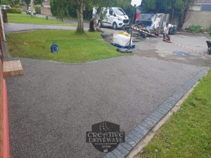 Two Resin Bound Driveways with Charcoal Border in Limerick City