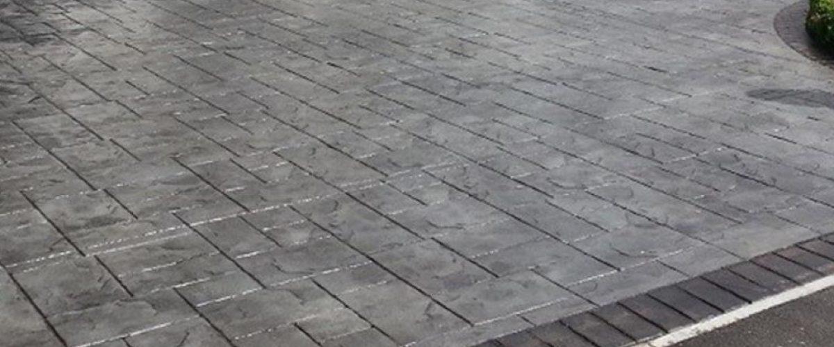 Imprinted Pattern Concrete Driveway