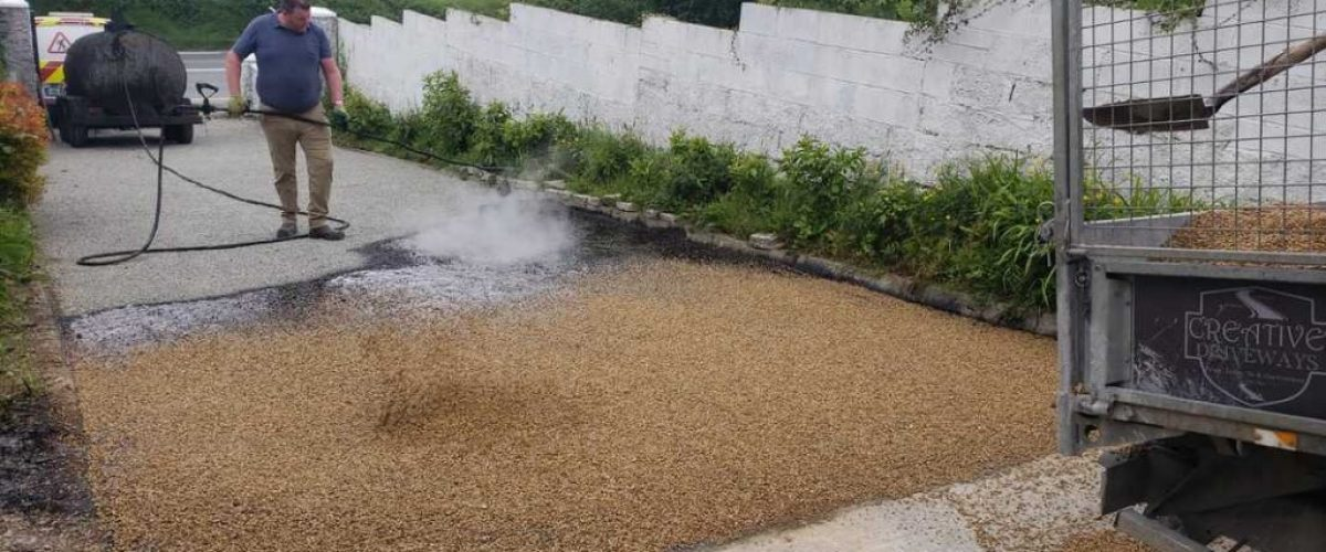 Tar and Chip Driveway Installation in Kildare